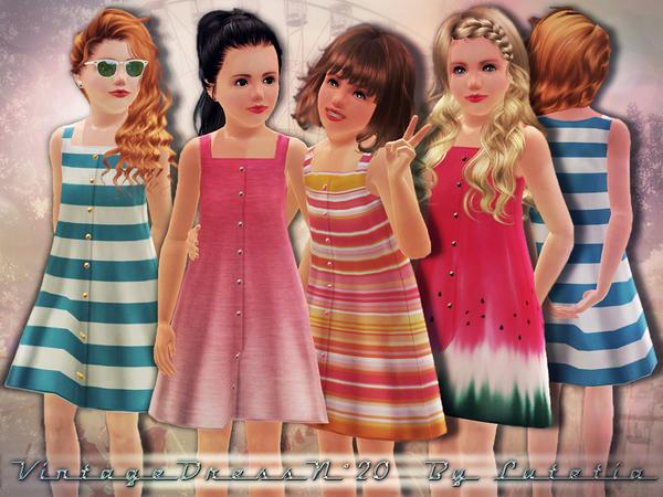 Vintage Dress - 20  (The Sims 3) W-600h-450-2736901