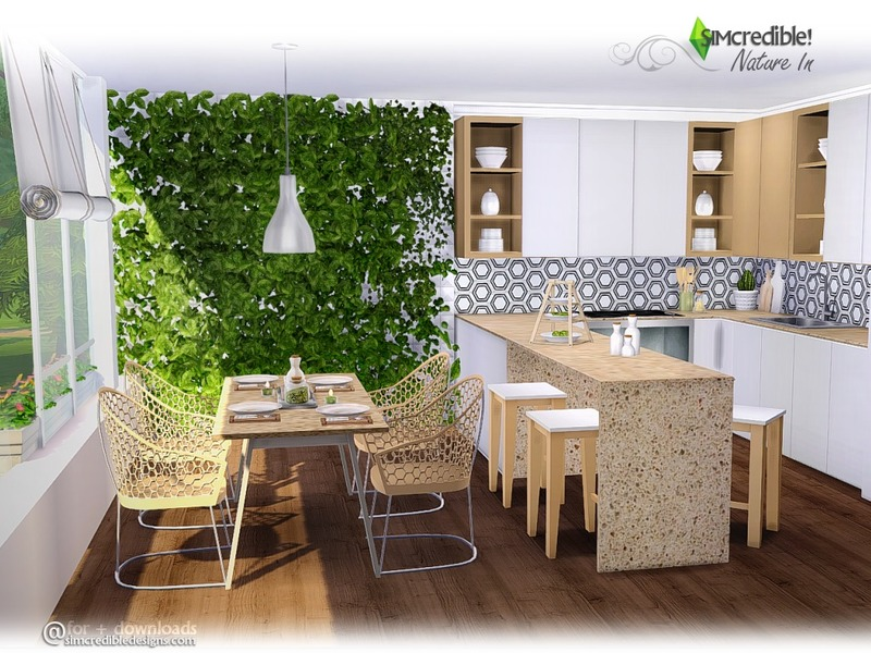 Simcredible 39 s nature in for Kitchen set sims 4