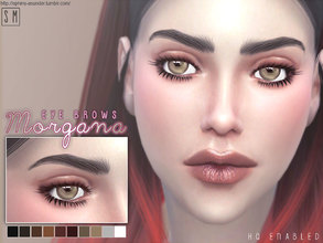 Sims 4 — [ Morgana ] Eyebrows by Screaming_Mustard — New fuller soft arch female brows. For females, child +. With custom