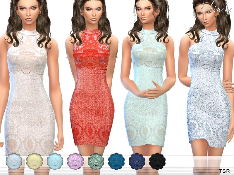 3470f861451c3 ekinege's Lace Overlay Mini Dress