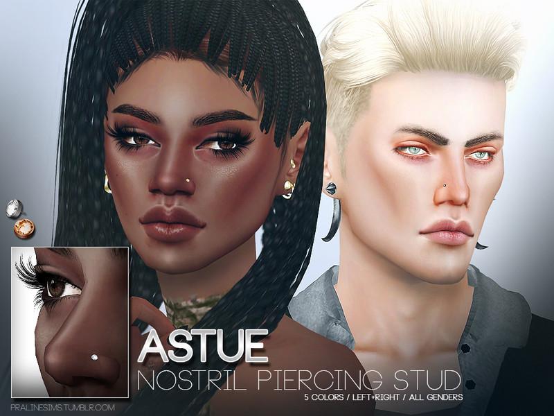 Pralinesims\' Astue Nostril Piercing Studs
