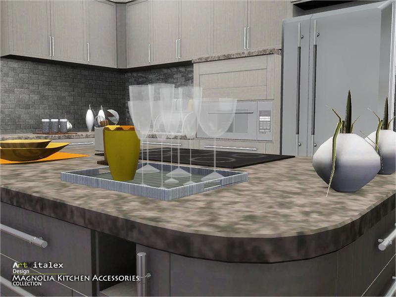 ArtVitalexs Magnolia Kitchen Accessories