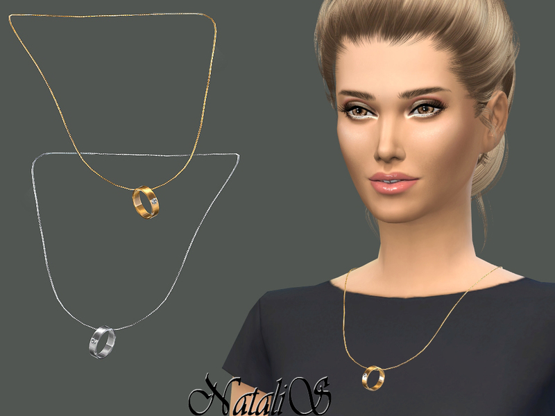 Natalis Wedding Ring On A Chain