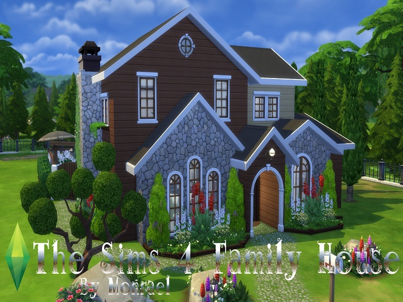 Monraelis12 39 s the sims 4 family house for The family house