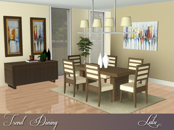 Lulu265 39 s trend dining for Sims 3 dining room ideas