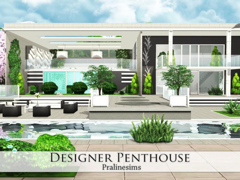 Pralinesims 39 designer penthouse for Appartement design sims 3