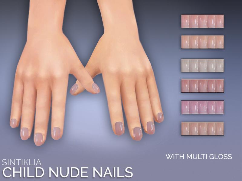 SintikliaSims\' Sintiklia - Natural child nails