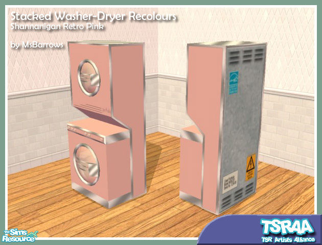 Retro Pink Washer Dryer Recolour