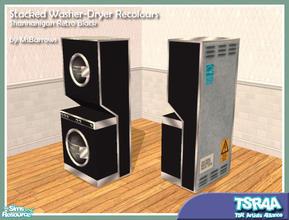 Retro Black Washer Dryer Recolour
