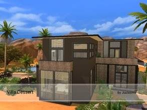 Sims 4 — Villa Dessert by Juulssims — Big Villa created in Oasis Springs. It has a slight industrial style, but is still