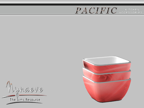 Sims 3 — Pacific Heights Cereal Bowl by NynaeveDesign — Pacific Heights Kitchen Accessories - Cereal Bowl Located in: