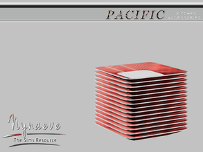 Sims 3 — Pacific Heights Plates by NynaeveDesign — Pacific Heights Kitchen Accessories - Plates Located in: Decor -