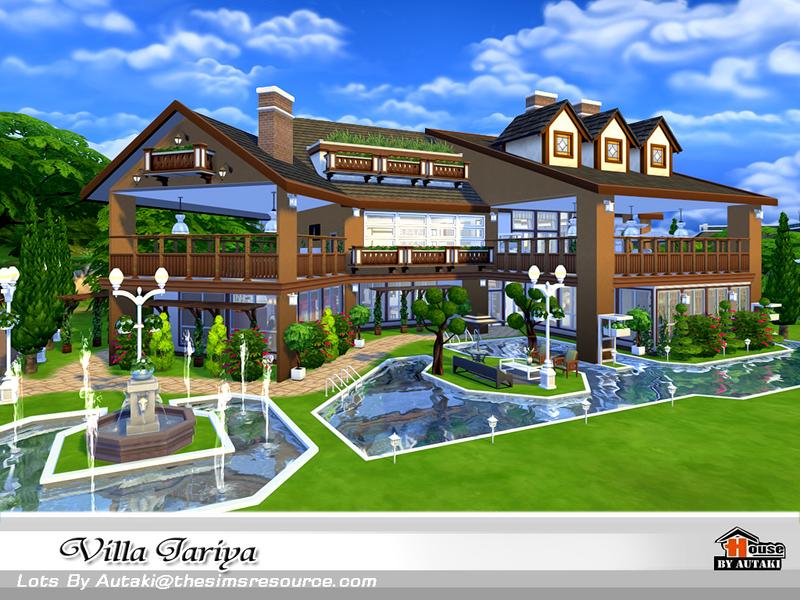 Autaki 39 s villa jariya for Modern house design the sims 4