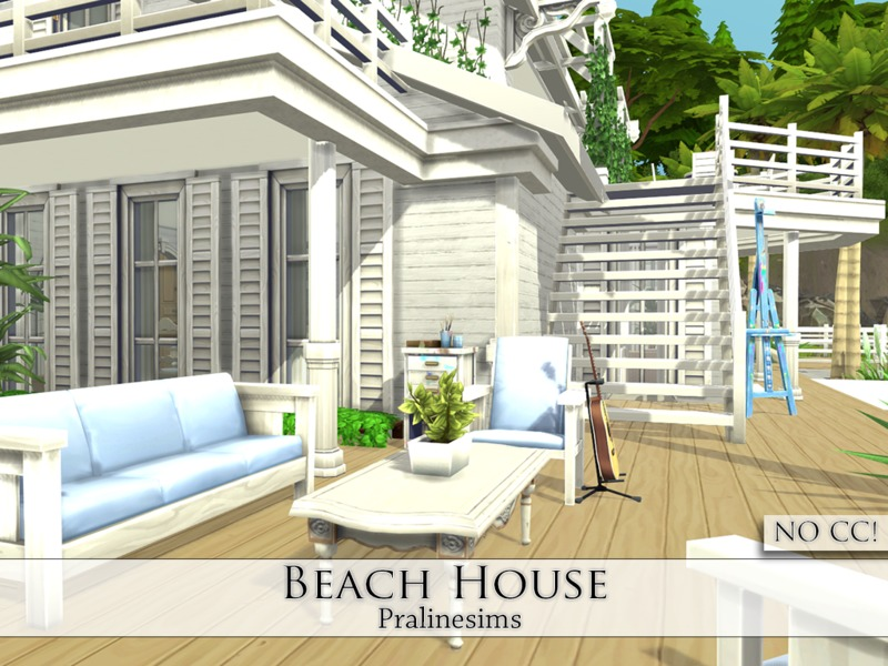Pralinesims 39 beach house for Beach house plans sims 3