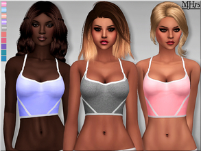 Sims 4 — S4 Work It Top by Margeh-75 — -a lovely and trendy sports crop top for your sims who want to look good while