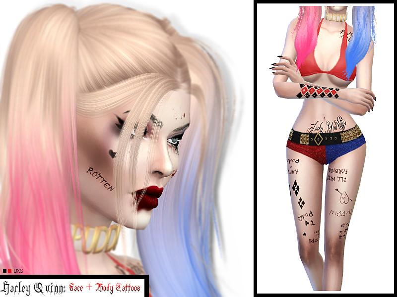 Venus Allures Harley Quinn Tattoos