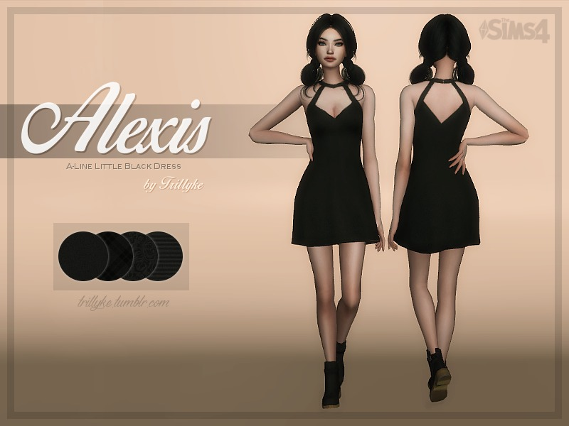 Trillyke Alexis A Line Little Black Dress