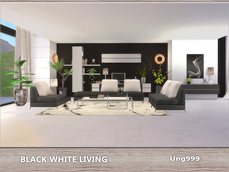 Ung999 S Black White Living
