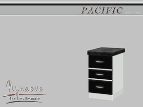 Sims 3 — Pacific Heights Counter End (right) by NynaeveDesign — Pacific Heights Kitchen - Counter End (right) Located in: