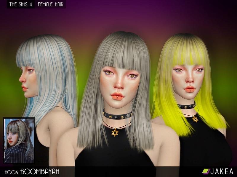JAKEASims' JAKEA - H006 - BOOMBAYAH (Female Hair)