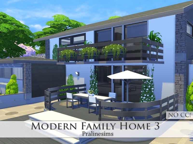 Pralinesims 39 modern family home 3 for Modern family house 90210