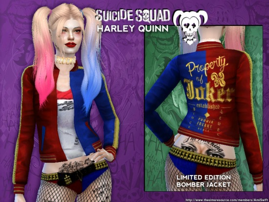 Sims 4 cc harley quinn jacket
