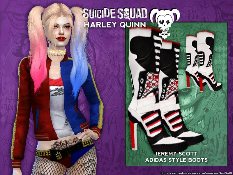 AmiSwift's Suicide Squad's Harley Quinn Boots - mesh needed