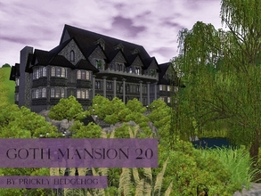 Sims 3 — Goth Mansion 2.0 by Prickly_Hedgehog — According to current and totally reliable investigations, 4 out of 5