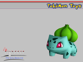 Sims 3 — Bulbasaur by NynaeveDesign — Pokemon Toys - Bulbasaur Located in: Kids - Miscellaneous Kids Price: 250 Tiles: