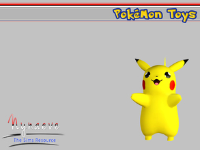 Sims 3 — Pikachu by NynaeveDesign — Pokemon Toys - Pikachu Located in: Kids - Miscellaneous Kids Price: 250 Tiles: