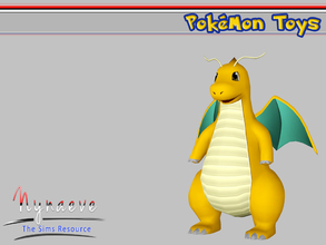 Sims 3 — Dragonite by NynaeveDesign — Pokemon Toys - Dragonite Located in: Kids - Miscellaneous Kids Price: 250 Tiles:
