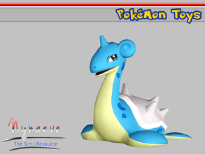 Sims 3 — Lapras by NynaeveDesign — Pokemon Toys - Lapras Located in: Kids - Miscellaneous Kids Price: 250 Tiles: 0.5x0.5