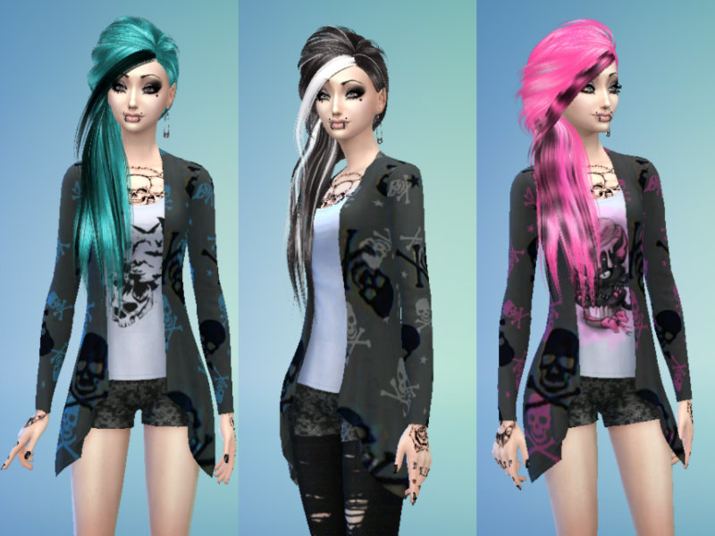 Maruchanbe S Emo Scene Skull Outfit For Teens Adults