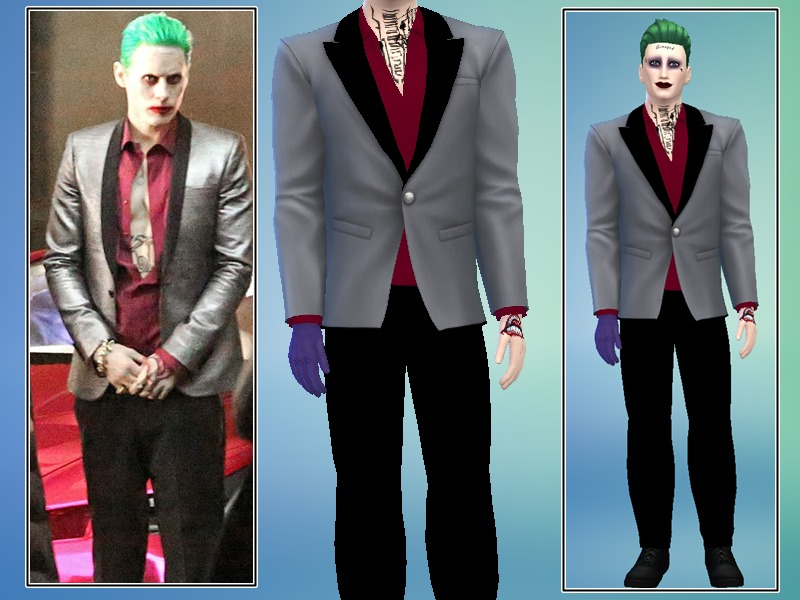 Cinderella Ella 94\'s Suicide Squad Joker Suit - Luxury Party needed