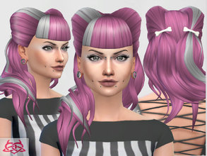 Sims 4 — Psychobilly Hair no alpha by Colores_Urbanos — Psychobilly inspiration new meshes made by me from Paraguay with