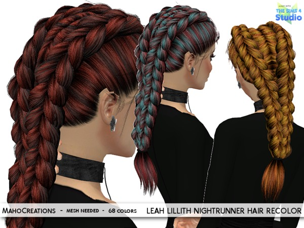Hairstyles Braids Download: MahoCreations' LeahLillith Nightrunner Hair Recolor