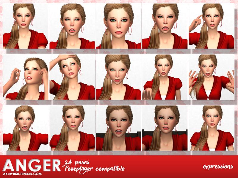 akuiyumi's Anger - Pose pack #9