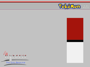 Sims 3 — Pokemon Wallpaper by NynaeveDesign — Pokemon Bedroom - Pokemon Wallpaper Located in Build - Wall Patterns -