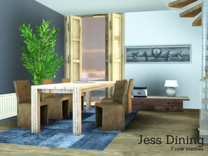 Sims 3 — Jess Dining by Angela — Jess Dining, A new diningroom for Sims 3. This set contains the following items: a