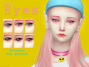 Sims 4 — Yume - Dolly Eyes by Zauma — Hello :) New eye color avaliable on 7 colors NON DEFAULT. Shows as costume makeup