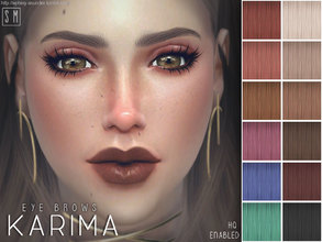 Sims 4 — [ Karima ] - Eye Brows by Screaming_Mustard — A simple set of bold and powerful female eye brows. For females,