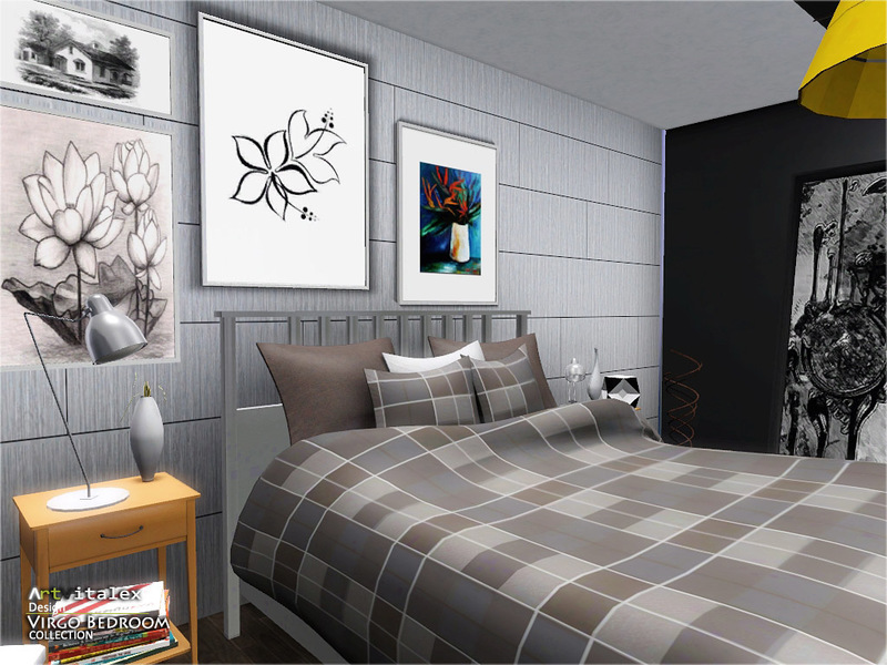 Virgo bedroom the sims 3 download simsdom for Sims 3 master bedroom ideas