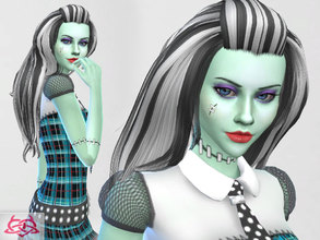 Sims 4 — Frankie Stein hairstyle by Colores_Urbanos — Monster High - Frankie Stein hairstyle new meshes made by me from