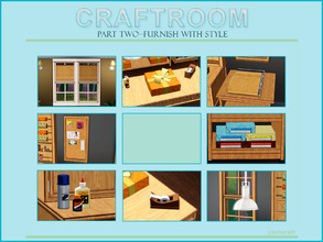 Sims 3 — Craftroom Part Two by Cashcraft — Part Two of the Craftroom set includes the decorative objects, art supplies,