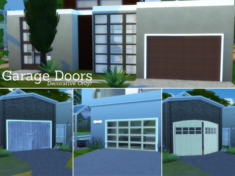 Angela 39 s garage doors set for Sims 4 garage