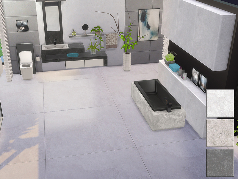 Ung999 S Black White Bathroom Floor