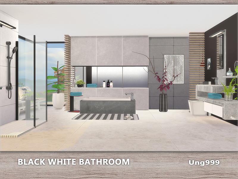ung999\'s Black White Bathroom
