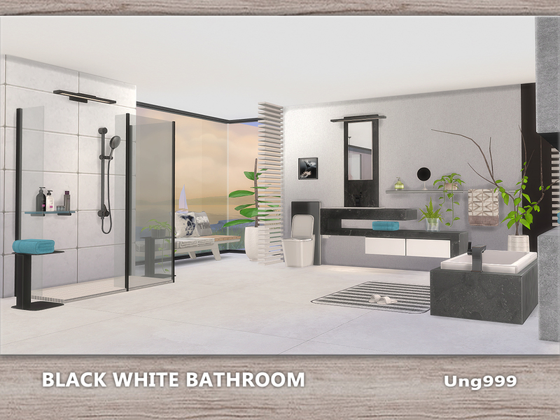 Ung999 S Black White Bathroom