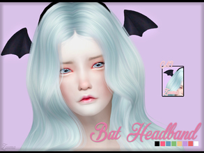 Sims 4 — Yume - Bat Headband by Zauma — Hello! ^^ Little headband with bat wings in several colors for females shows as
