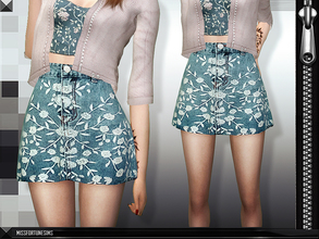 Sims 4 — MFS Seres Skirt by MissFortune — Standalone, custom thumbnail, 7 colors.